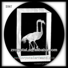 K9 3D subsuperfície gravado pássaro