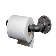 Toilet Paper Roll Holder - Black Iron Pipe