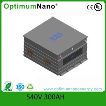 Pacent PCB Packed 540V 300ah LiFePO4 bateria de ônibus elétrico com Smart BMS
