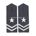 Black Fabric Epaulette with Buttonhole Product Military