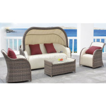 PU & Rattan Wicker Patio Outdoor Garten Sofa Set