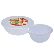 rodada de alimentos armazenamento recipiente tampa plástica transparente saladeira com tampa
