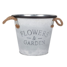 Vintage Galvanized Iron Flower Garden Decorative Planter