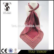 Nueva fábrica de hangzhou del diseño venta directamente pavo bufanda popular de seda del estilo