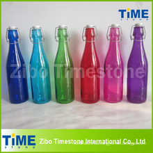 Botella de vidrio de 500 ml con tapa de clip