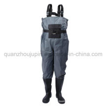 OEM PVC Waterproof Breathable Fishing Chest Wader Overalls Pants