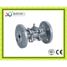 CF3m 3PC Flange Ball Valve Dn40 Pn16 with Cheap Price