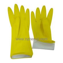Gants de nettoyage Lady's Yellow Family Latex Kitchen Guards