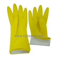 Lady′s Cleanning Gloves Yellow Household Latex Kitchen Gloves