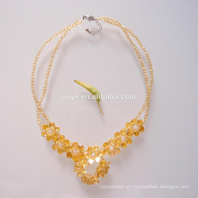 Fashion Colorful Multi Flower Zircon Bling Bling Statement Necklace