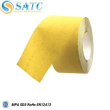 Rouleaux de tissu de ponçage abrasifs jaunes de la Chine