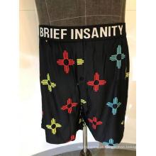Shorts impressos de poliéster spandex masculino