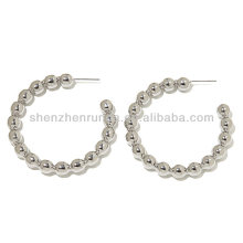 Venda Por Atacado aço especial com cercadura brincos de aro moda design da jóia da china