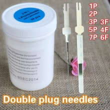 Permanent Eyebrow Makeup Needle Double Plug Needle