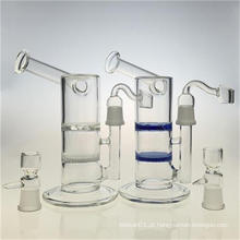 Honeycomb disco cachimbo de água de vidro tubos de fumar para Bubbler (ES-GB-389)
