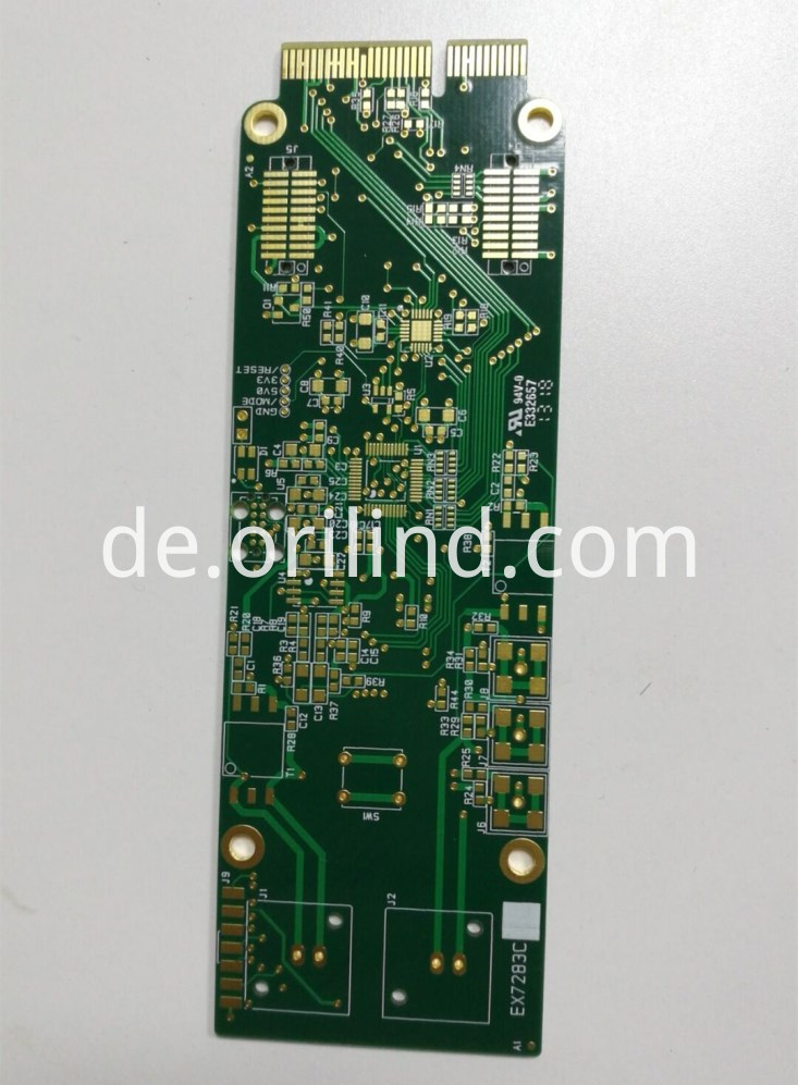 Hard gold edge connector board