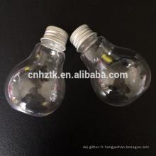 Bouteille en plastique ampoule