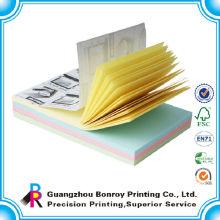 Bunter Papierdruckklebstoff reißen Notizblockgroßverkauf ab