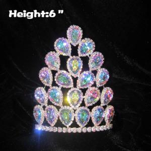 Coronas de concurso de cristal con diamantes AB