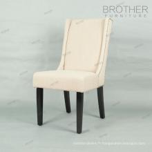 chaises de salle à manger en bois de style français de luxe de style pour le restaurant et la maison