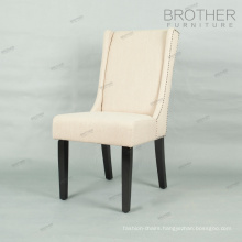 luxury french style wood frame fabric dining chairs for restaurant and home