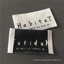 High density woven main label soft edge