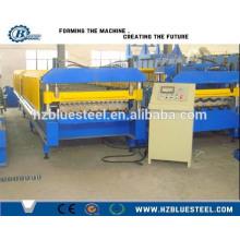 Máquina de laminação de rolo de telhado de alumínio de venda quente Máquina formadora de rolo de folha de telhado ondulado