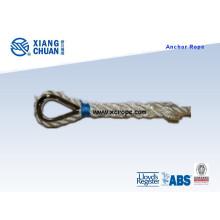 Corda de âncora de nylon branca de 50 medidores x 14mm