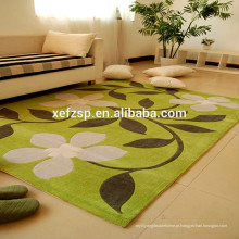 Super absorvente 100% poliéster microfibra sala de estar tapetes indoor 100% poliéster impresso impermeável macio tapete shaggy