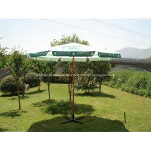 Anuncio aleta logotipo paraguas de marco de madera al aire libre