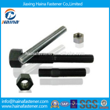 In Stock China Supplier stud bolt astm a193 gr b7 with zinc plated/teflon surface