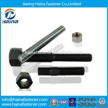 Em Stock China Fornecedor parafuso stud astm a193 gr b7 com zinco chapeado / teflon superfície