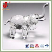 Cadeau Afrique vif en cristal d'éléphant (JD-CA-108)