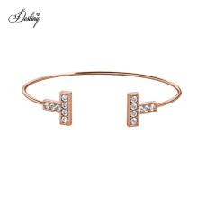 Classic Luxury Double T Narrow Wire Hermies Bangle Bracelet Fine Jewelry for Women