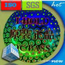QR Code PET Holographic Security Label
