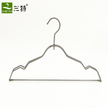 gun color stainless steel metal clothes hanger