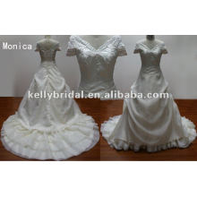 New Designers Caps Sleeve Wedding Dresses Real Sample Bridal Dress From Wedding Manufacturer Wholesale