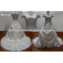 New Designers Caps Sleeve Vestidos de casamento Real Sample vestido de noiva de casamento Fabricante Atacado