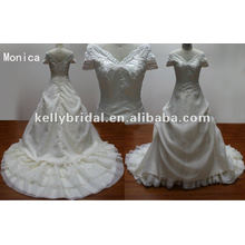 Новые Дизайнеры Шапки Свадебные Платья Рукавом Реальный Образец Платья От Производителя Свадебные Оптом Свадебные