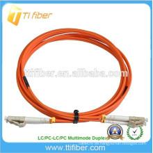 15Meter fibra óptica Patchcord multimodo dúplex LC / LC