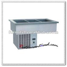K117 Stainless Steel Bain Marie, Cooling Bain Marie melhor em isolamento térmico
