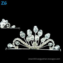 High Quality crystal wedding crown, small crystal queen crowns, crystal wedding headpiece