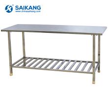Работа SKH070 таблицы нержавеющей стали с нижней полкой для продажи