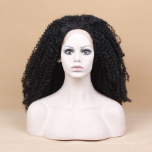 Encaracolado preto peruca intensa peruca resistente ao calor peruca sintética peruca dianteira do laço crespo