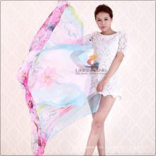 Bufandas largas del mantón del estilo de la nueva de la señora del diseño de Lingshang Wrap Chiffon