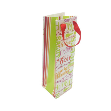 Portable simple paper gift bag