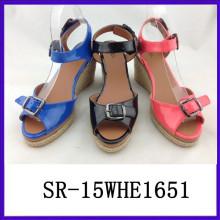Lastest women sandal european ladies sandals ladies pu sandals PU sandal