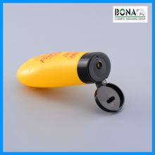 60g Orange Oval Shape PE Bottle for Hand Cream