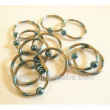 Ball Closure Rings industrial piercing nose body jewelry