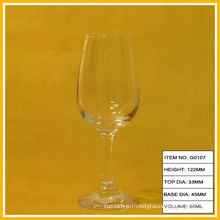 Custom Made Mini Clear Goblet Wine Glass Fine Crystal Champagne For Wedding